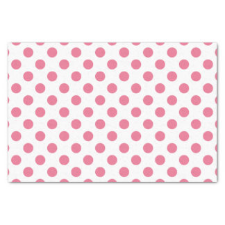 Pink and white polka dots tissue paper