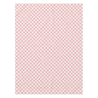 Pink and White Pretty Retro Checkers 50s Party Tablecloth