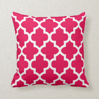 Pink and White Quatrefoil Pattern | DIY Color Throw Cushions