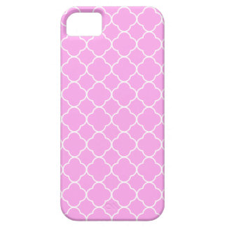 Pink And White Quatrefoil Pattern iPhone 5 Cover