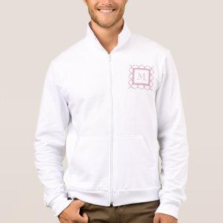 Pink and White Quatrefoil   Your Monogram Jacket