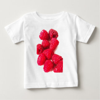 Pink and White Raspberry - Fruit Print Baby T-Shirt
