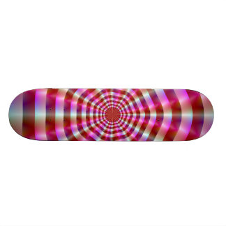 Pink and White Rings Skateboard