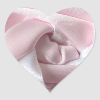 Pink And White Rose Heart Stickers
