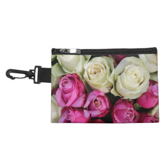 pink and white roses by Therosegarden Accessory Bags