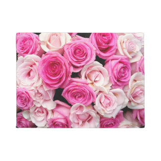 Pink and White Roses Doormat