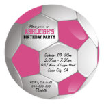 Pink and White Soccer Ball Birthday Party