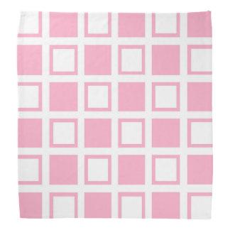 Pink and White Squares Bandana