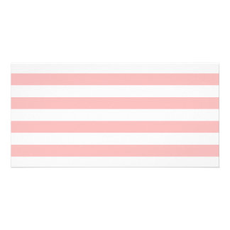 Pink and White Stripe Pattern Card