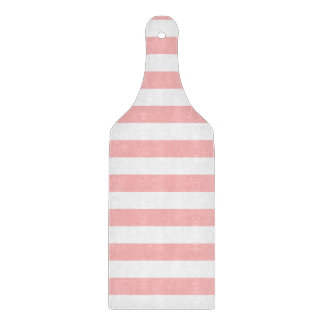 Pink and White Stripe Pattern Cutting Board