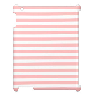 Pink and White Stripe Pattern iPad Covers