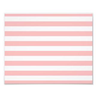 Pink and White Stripe Pattern Photo Print