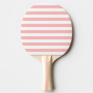 Pink and White Stripe Pattern Ping Pong Paddle