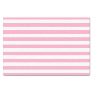 Pink and White Striped Tissue Paper