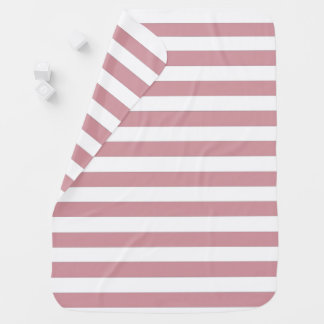 Pink and White Stripes Baby Blanket