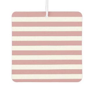 Pink and White Stripes Car Air Freshener