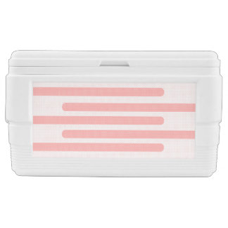 Pink and White Stripes Cooler