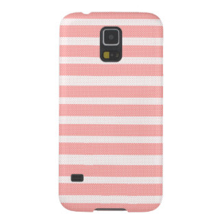 Pink and White Stripes Galaxy S5 Case