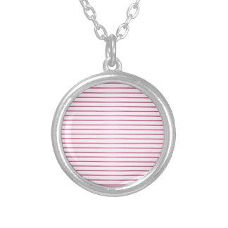 Pink and White Stripes Custom Jewelry