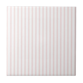 Pink and White Stripes Tile