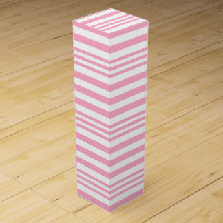 Pink and White Stripes X 3 Wine Box