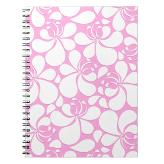 Pink and white tropical floral notebooks