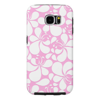 Pink and white tropical floral samsung galaxy s6 cases