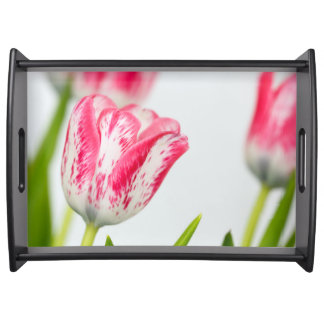 Pink and White Tulips Serving Tray