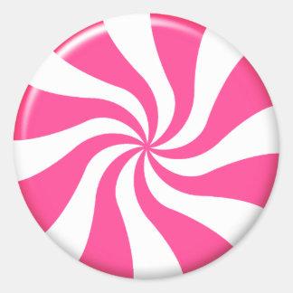Pink And White Twist Candy Sticker