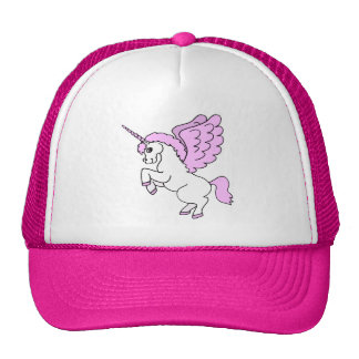 Pink and White Unicorn Graphic Cap