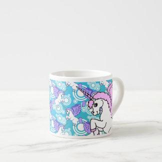 Pink and White Unicorn Graphic Espresso Mug