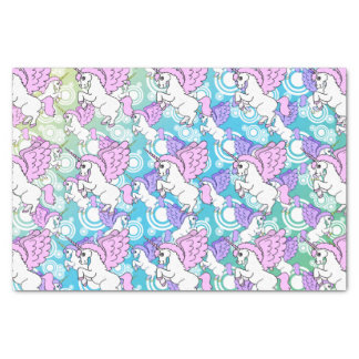 Pink and White Unicorn Pattern Design Tissue Paper