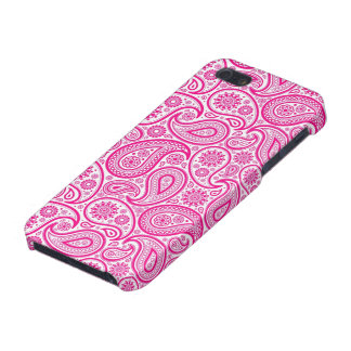 Pink And White Vintage Paisley Pattern iPhone 5/5S Cover
