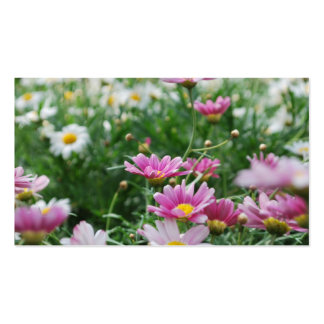 Pink and White Wildflowers Business Card Templates