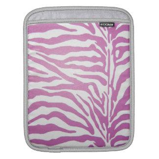 Pink and White Zebra Print iPad Sleeve