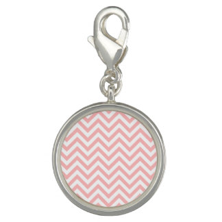 Pink and White Zigzag Stripes Chevron Pattern