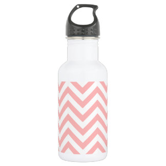 Pink and White Zigzag Stripes Chevron Pattern 532 Ml Water Bottle