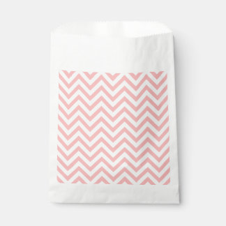 Pink and White Zigzag Stripes Chevron Pattern Favour Bag