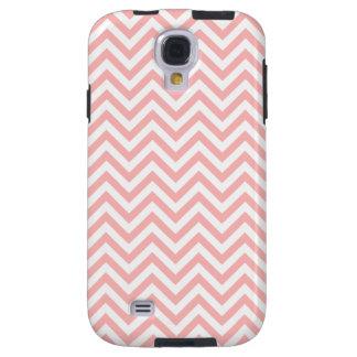 Pink and White Zigzag Stripes Chevron Pattern Galaxy S4 Case