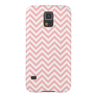 Pink and White Zigzag Stripes Chevron Pattern Galaxy S5 Case