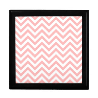 Pink and White Zigzag Stripes Chevron Pattern Gift Box