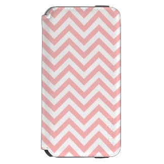 Pink and White Zigzag Stripes Chevron Pattern Incipio Watson™ iPhone 6 Wallet Case