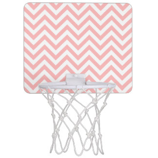 Pink and White Zigzag Stripes Chevron Pattern Mini Basketball Hoop