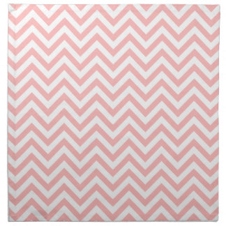 Pink and White Zigzag Stripes Chevron Pattern Napkin