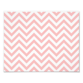Pink and White Zigzag Stripes Chevron Pattern Photo Print