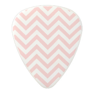 Pink and White Zigzag Stripes Chevron Pattern Polycarbonate Guitar Pick