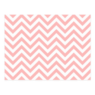 Pink and White Zigzag Stripes Chevron Pattern Postcard