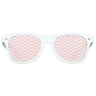Pink and White Zigzag Stripes Chevron Pattern Retro Sunglasses