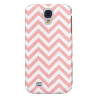 Pink and White Zigzag Stripes Chevron Pattern Samsung Galaxy S4 Case