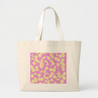 Pink and Yellow Confetti Large Tote Bag